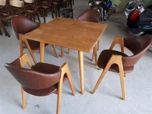 Bàn ghế chữ A bọc nệm cafe giá rẻ bán trực tiếp tại nơi sản xuất