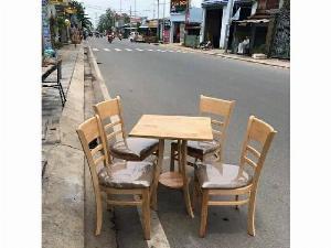Bộ bàn ghế gỗ cà phê sang trọng