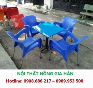 Thanh Lý Bộ Bàn Ghế Cafe Nhựa Nữ Hoàng HGH NH01