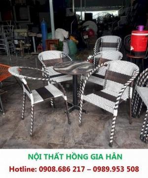 Bộ Bàn Ghế Cafe Sân Vườn Giá Rẻ HGH MN01