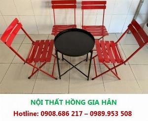 Bàn Ghế Xếp Cho Cafe Cóc Hgh Ns01 Cực Xịn Xò