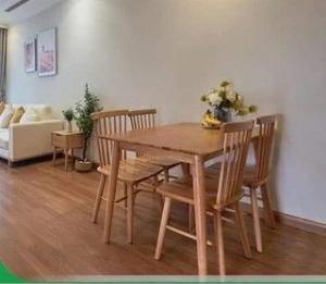 Bộ bàn ăn song tiện bao gồm 1 bàn 4 ghế