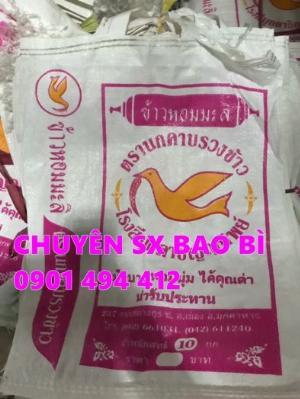Bao đựng lúa, gạo in Flexo giá rẻ