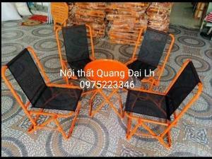 Bộ ghế sắt lưới xếp nhiều màu giá hạt giẻ