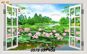 Tranh ốp tường - tranh gạch hoa sen