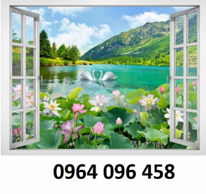 Tranh gạch 3d cửa sổ phong cảnh đẹp - MG44