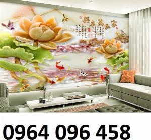 Gạch tranh 3d hoa sen - NN66