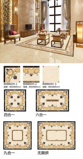Gạch thảm phòng khách khổ lớn trang trí sang trọng HP67