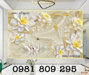 Tranh gạch 3d ốp tường hoa ngọc