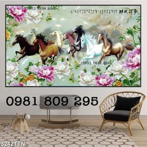 Mã đáo thành công - gạch tranh 3d ngựa giả ngọc