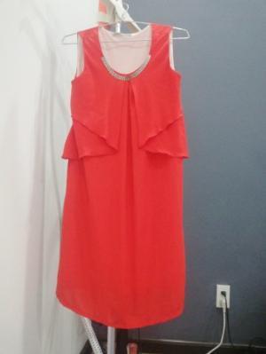 Đầm Anna nina màu đỏ cam