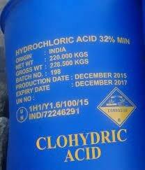 Acid Clohydric-HCL*32% hóa chất tẩy nước giá cạnh tranh giao hàng tại Miên nam