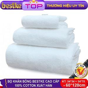 Bộ Khăn Bông Bestke Cao Cấp 100% Cotton Xuất Khẩu Hàn Quốc