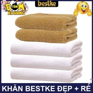 Combo 5 khăn gồm 3 Khăn gội và 2 khăn mặt bestke 100% cotton