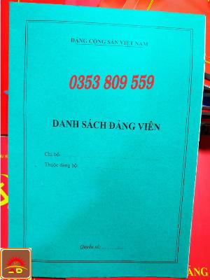 Mua bán, địa chỉ nơi bán cuốn, quyển sổ danh sách đảng viên