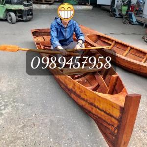 Thuyền gỗ chèo tay 3m, Thuyền gỗ 4m, Thuyền gỗ trang trí, Thuyền gỗ chụp ảnh