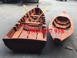Thuyền gỗ trang trí, Thuyền gỗ chèo tay 3-4 người, Thuyền gỗ 3m, 4m có sẵn