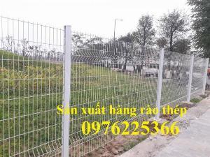 Hàng rào mạ kẽm sơn tĩnh điện D4, D5, D6, sản xuất theo yêu cầu
