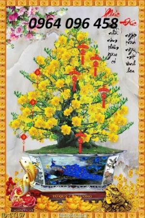 Tranh 3d cây mai - gạch tranh - tranh gạch 3d cây mai - MF44