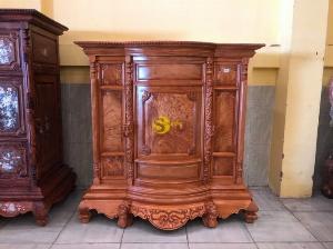 HOT Tủ thờ trơn bụng phệ 1m34 – SD134