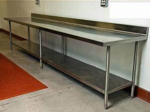 Bàn bếp inox công nghiệp 1 tầng Hải MInh HM 04