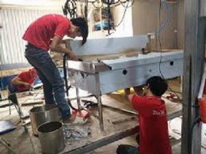 Bếp á inox công nghiệp Hải MInh HM 02
