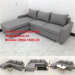 Sofa góc L | Salon góc chữ L Xám ghi trắng giá rẻ đẹp | Sofa Linco Bình Dương