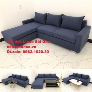Sofa góc L giá rẻ | Salong góc chữ L 2m2 đẹp hiện đại Nội thất Linco Sài Gòn