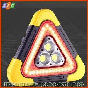 Biển tam giác phản quang cảnh báo nguy hiểm cho ô tô dùng năng lượng mặt trời với nhiều chế độ nháy sáng
