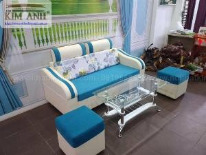Ghế sofa băng bọc vải cho phòng khách chung cư nhỏ tại bình dương