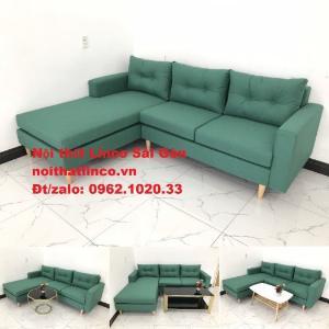 Bộ bàn ghế sofa góc xanh ngọc giá rẻ đẹp phòng khách Sofa Linco ở tại TP Dĩ An
