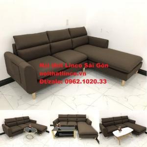 Sofa góc | Sopha góc L Nâu socola rẻ đẹp Hiện Đại ở tại Sofa Linco Long An