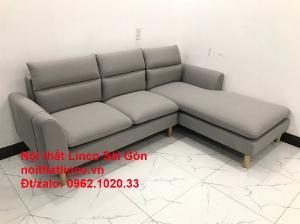Bộ ghế sofa góc 2m2 xám trắng giá rẻ Nội thất phòng khách Linco HCM Sài Gòn