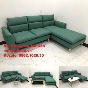 Sopha, salong góc | Sofa góc 2m2 xanh ngọc rẻ đẹp | Nội thất Linco HCM