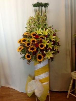 Lẵng hoa hướng dương chúc mừng khai trương - LDNK09