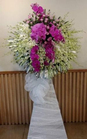 Lẵng hoa phúng viếng đám tang trịnh trọng - LDNK33