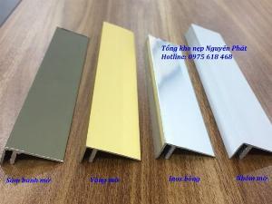 Nẹp nhôm chữ F, nẹp F, nẹp kết thúc sàn gỗ