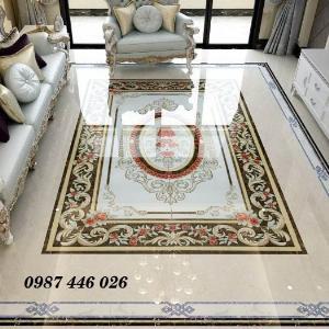 Thảm gạch phòng khách, gạch hoa văn lát nền sang trọng HP0013