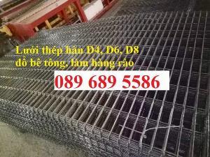 Tấm thép đổ bê tông, Lưới thép hàn phi 4, Phi 5, phi 6 a 200x200, D6 a 150x150