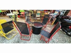 Bộ bàn ghế xếp mini cafe cao cấp Ak006