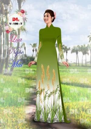 Vải áo dài lụa ngọc mai cao cấp V 199