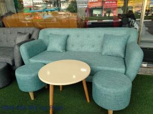 Ghế sofa đẹp cho spa, bộ bàn ghế chờ spa đẹp giá rẻ tại Thuận An, Bình dương