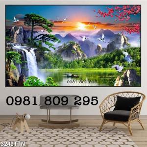 Tranh phong cảnh - gạch tranh 3d phòng khách