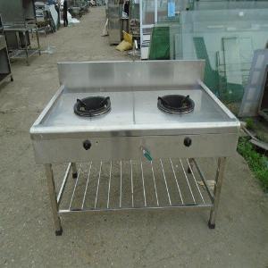 Bếp gas công nghiệp 2 họng inox 304 Hải Minh HM 09
