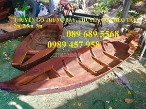 Thuyền 3 lá, thuyền gỗ tam bản trưng bày, chụp ảnh