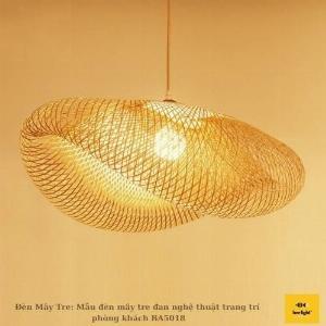 Đèn Mây Tre: Mẫu đèn mây tre đan nghệ thuật trang trí phòng khách BA5018 430.000 VND