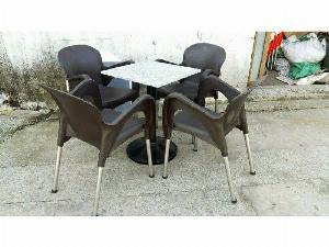 Bộ bàn ghế nhựa cafe hiện đại