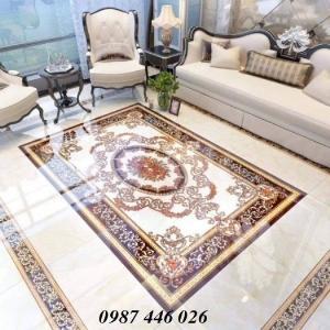Thảm gạch sàn trang trí nội thất phòng khách đẹp HP10598