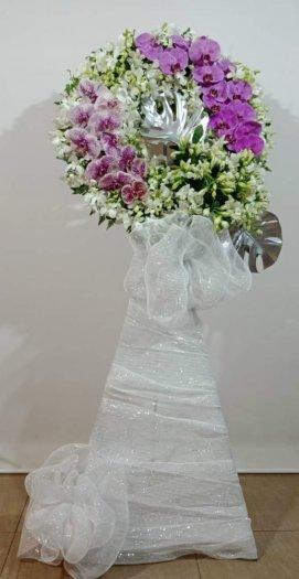 Lẵng hoa tang lễ chia buồn trang trọng - LDNK37