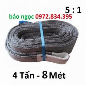 Dây cáp vải cẩu hàng 4 tấn 8 mét bản 100mm